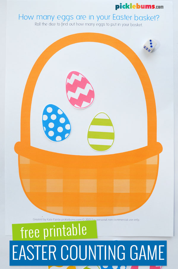Easter egg counting game printable