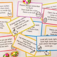 free printable Easter hunt clue cards