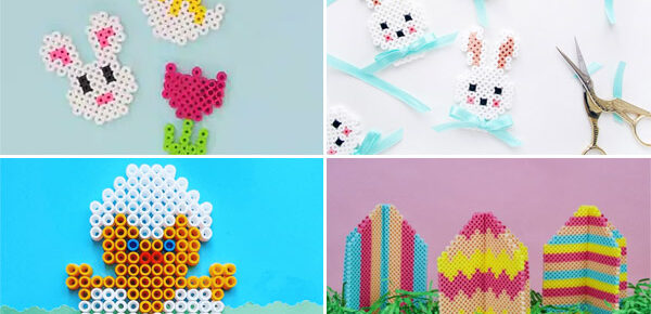 Easter Perler bead crafts