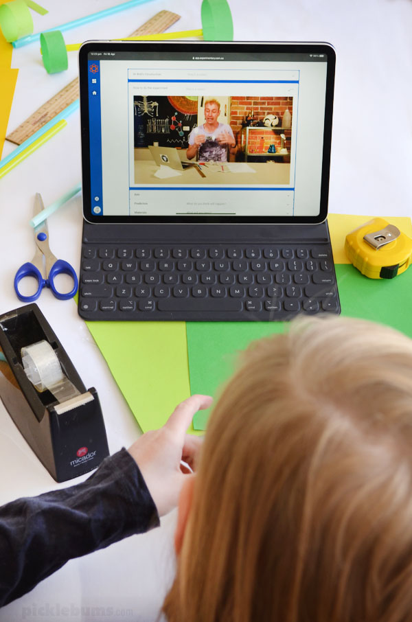 Child watching video on ipa