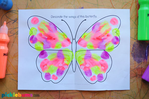 butterfly squish painting
