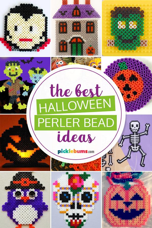 Halloween perler bead ideas photo collage