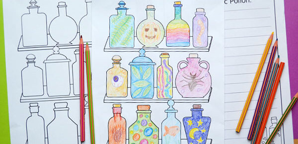 magic potions drawing pages