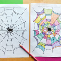 spider web colouring pages